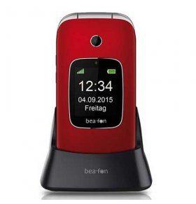 Beafon SL660 movil de tapa para mayores color rojo