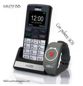 Maxcom MM715 BB movil senior con pulsera SOS