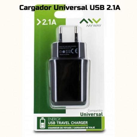 Cargador USB universal 220v de 2.1A