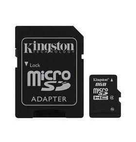 Tarjeta MicroSD 8GB con adaptador