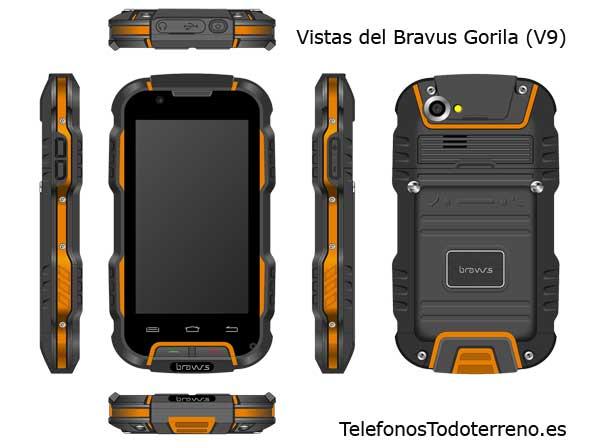 Bravus Gorila (V9) Smartphone Todoterreno