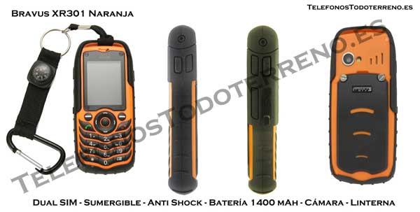 Bravus XR301 Doble SIM Naranja