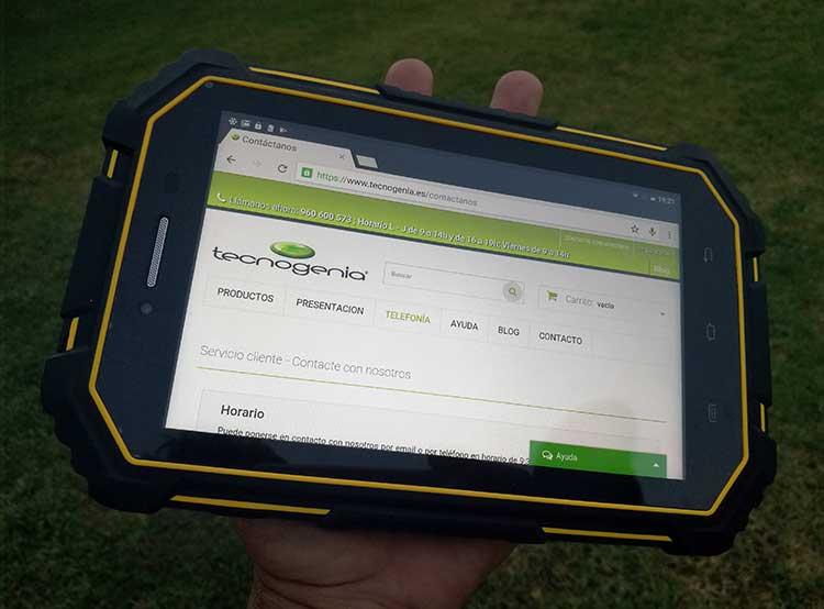 Tablet sumergible y resistente Overmud Master16