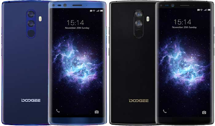 Doogee Mix 2 color azul y negro