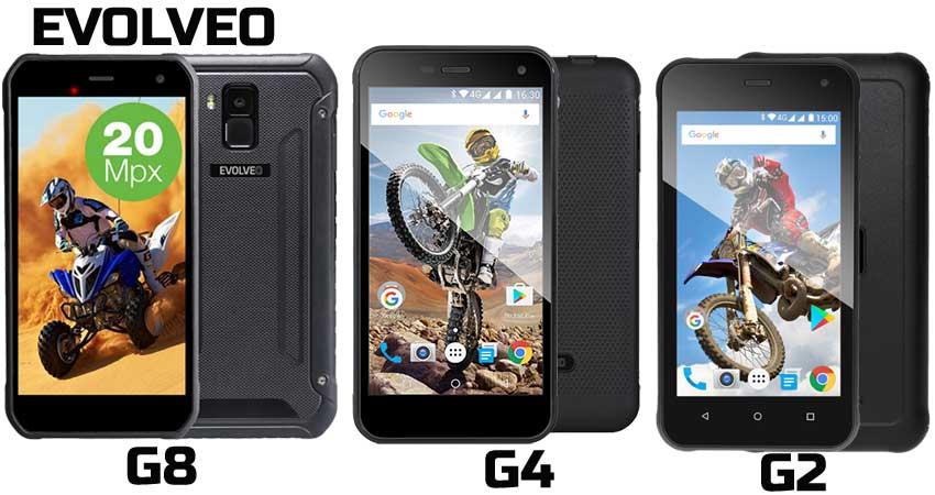 Evolveo StrongPhone comparativa G8 G4 G2