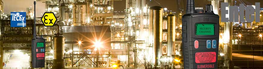 Walkie ATEX para uso industrial