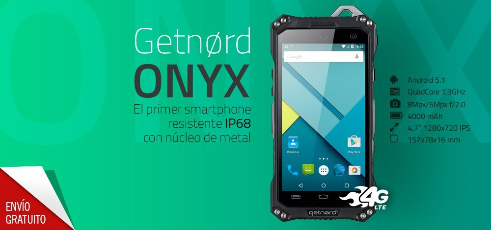 Getnord Onyx smartphone todoterreno